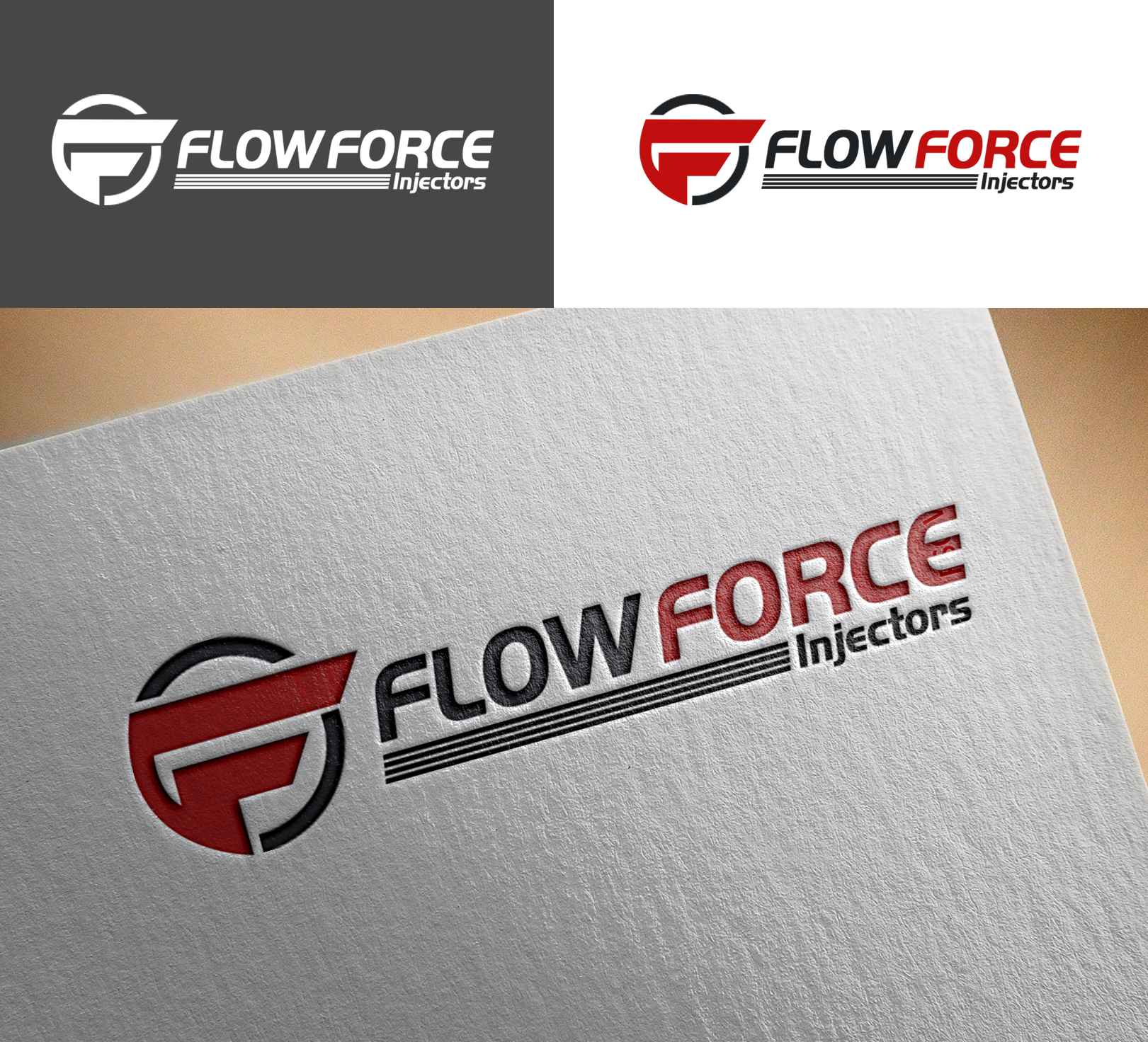 Logo Design by Sohaib Ali Khan - Entry No. 166 in the Logo Design Contest Fun Logo Design for Flow Force Injectors.