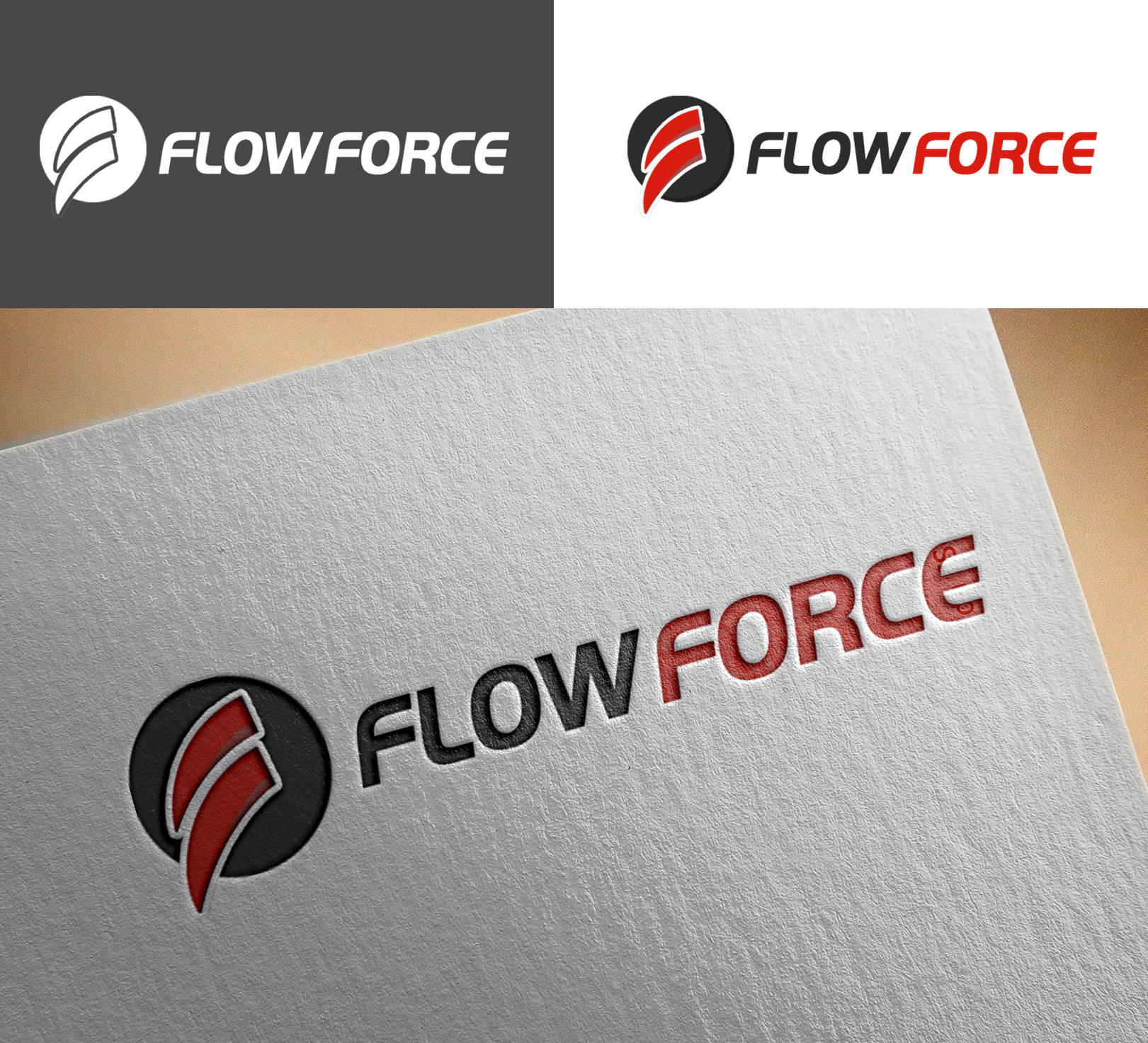 Logo Design by Sohaib Ali Khan - Entry No. 170 in the Logo Design Contest Fun Logo Design for Flow Force Injectors.