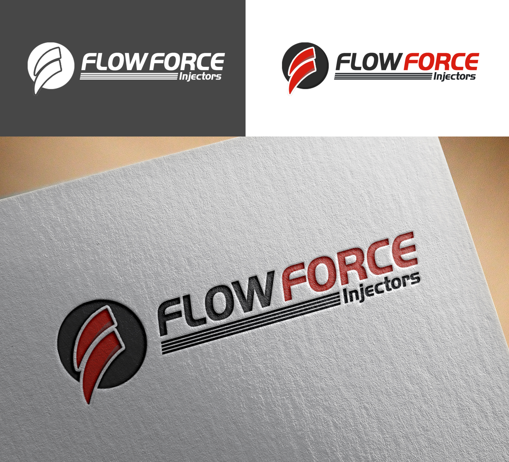 Logo Design by Sohaib Ali Khan - Entry No. 171 in the Logo Design Contest Fun Logo Design for Flow Force Injectors.