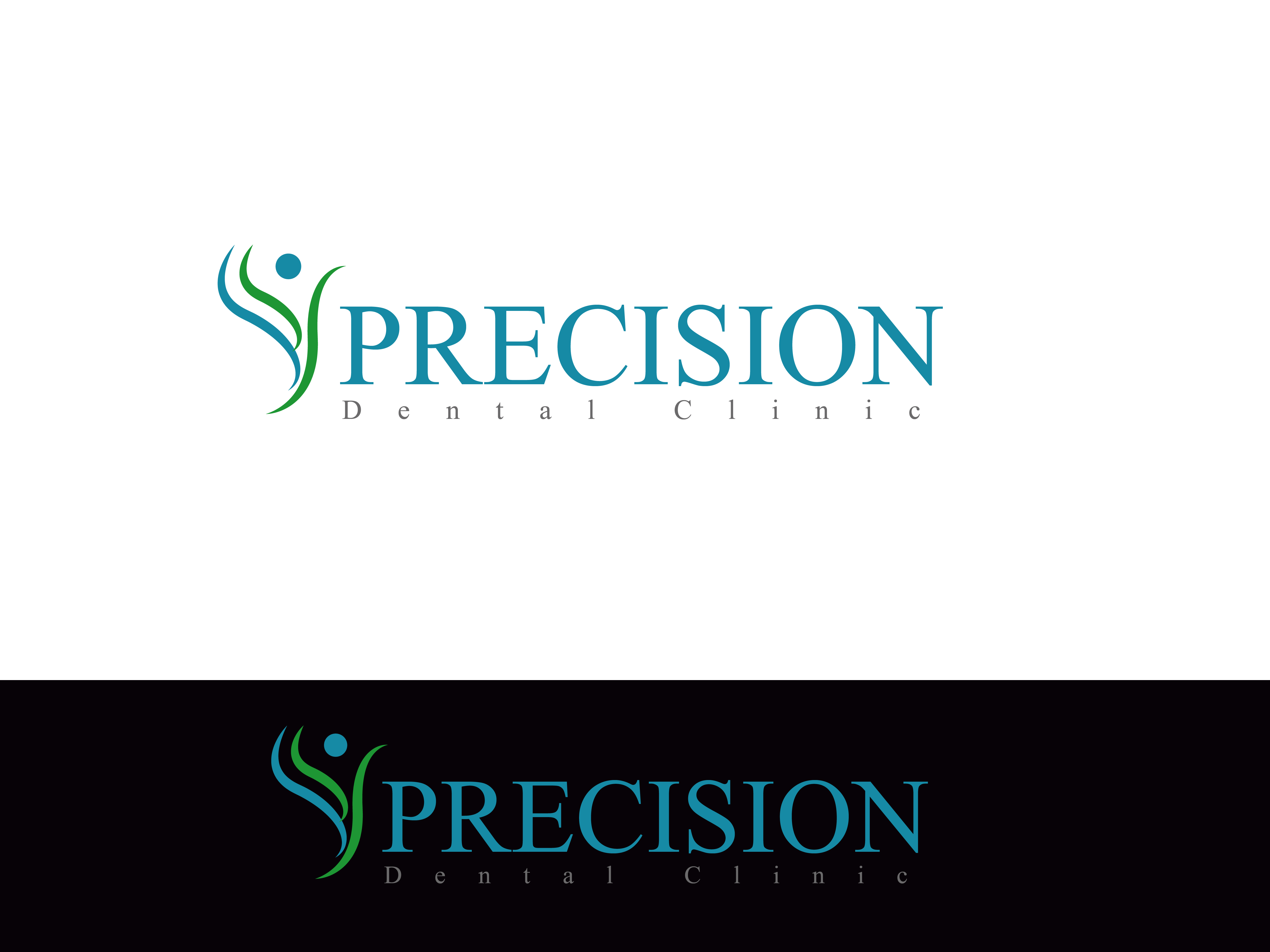 Logo Design by Private User - Entry No. 96 in the Logo Design Contest Captivating Logo Design for Precision Dental Clinic.