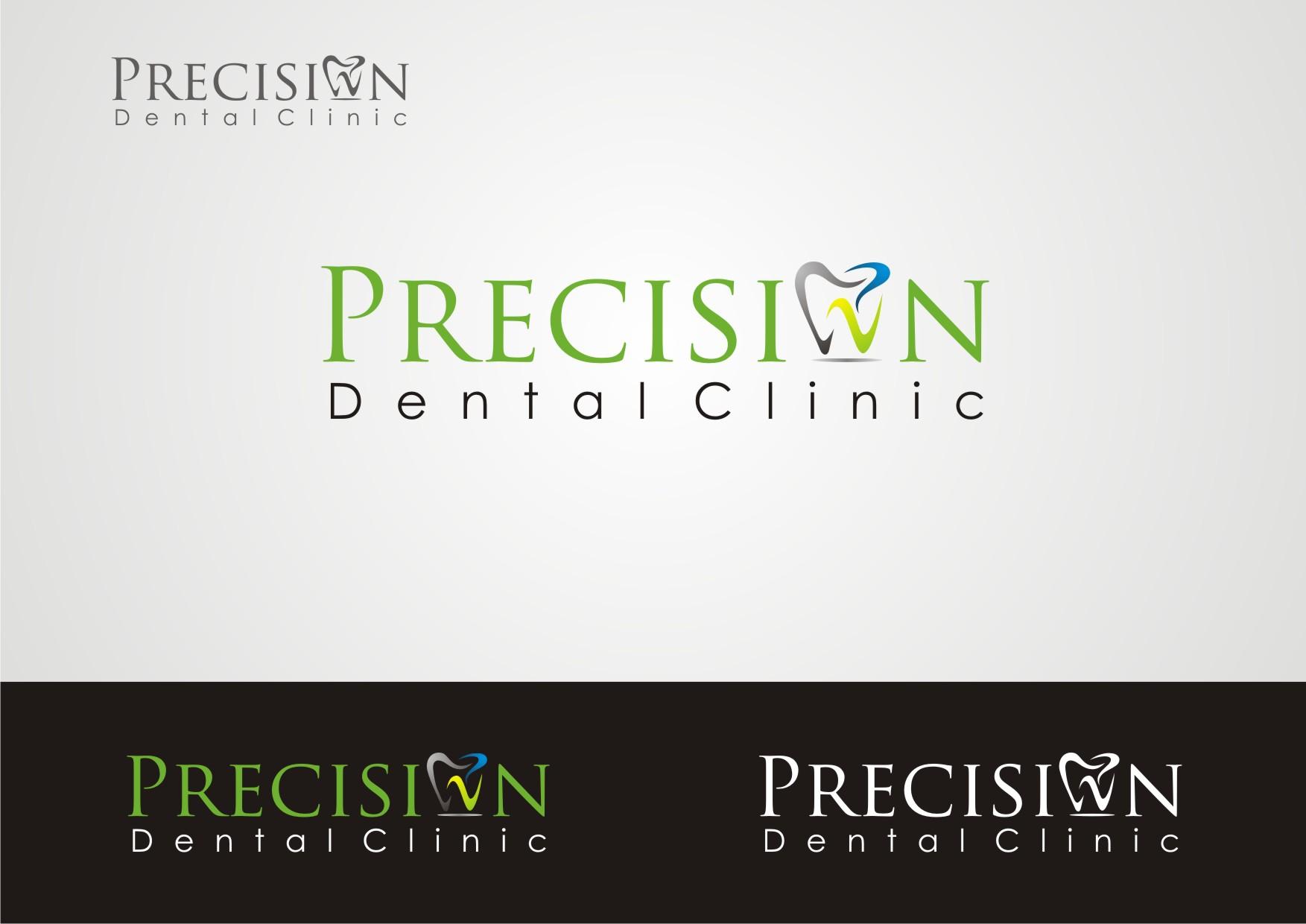Logo Design by Private User - Entry No. 107 in the Logo Design Contest Captivating Logo Design for Precision Dental Clinic.