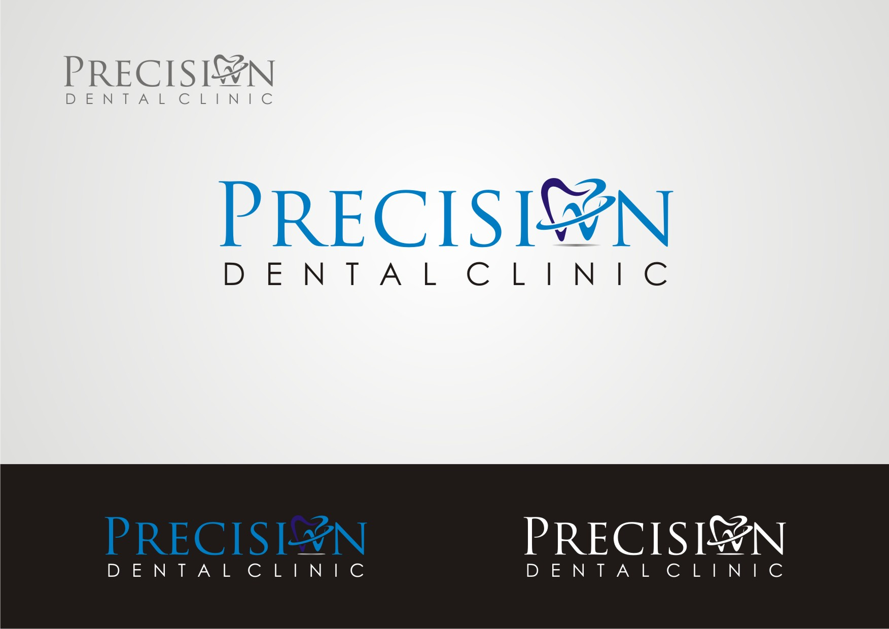 Logo Design by Private User - Entry No. 108 in the Logo Design Contest Captivating Logo Design for Precision Dental Clinic.