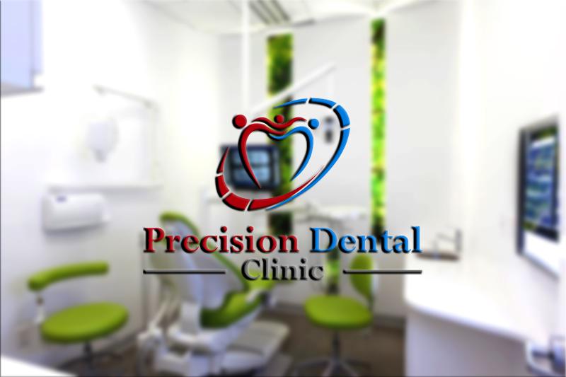 Logo Design by Irfan Ali - Entry No. 110 in the Logo Design Contest Captivating Logo Design for Precision Dental Clinic.