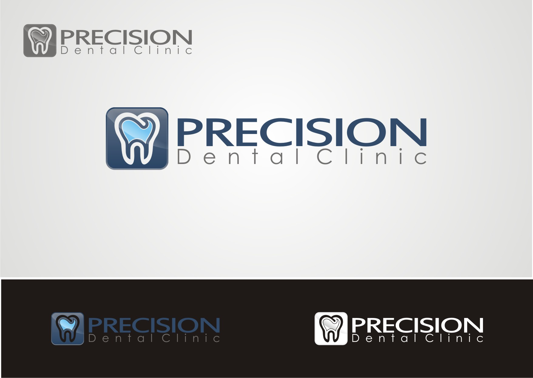 Logo Design by Private User - Entry No. 111 in the Logo Design Contest Captivating Logo Design for Precision Dental Clinic.