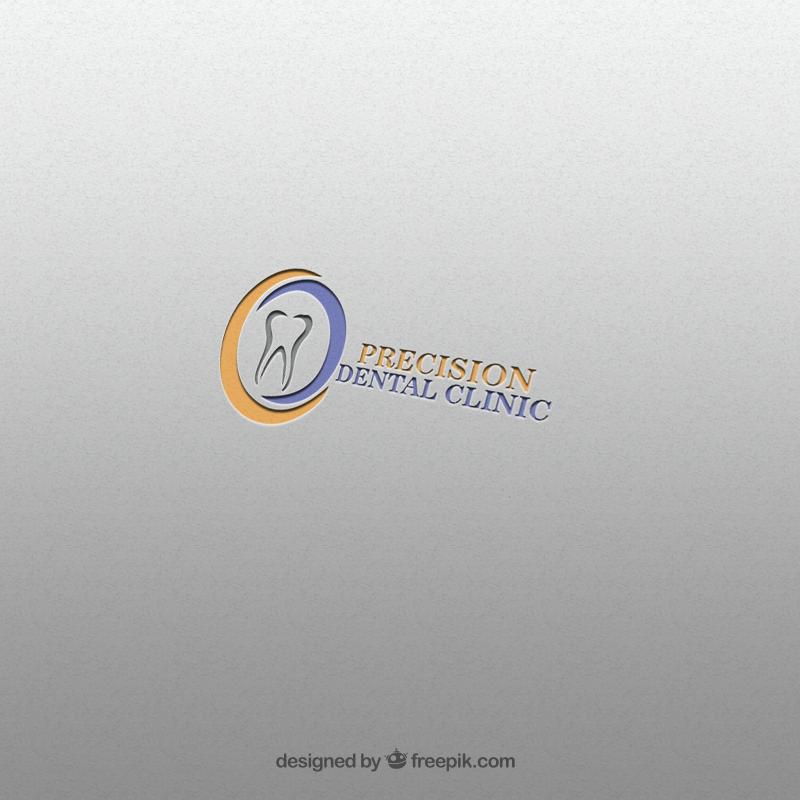 Logo Design by Palwasha Khan - Entry No. 120 in the Logo Design Contest Captivating Logo Design for Precision Dental Clinic.
