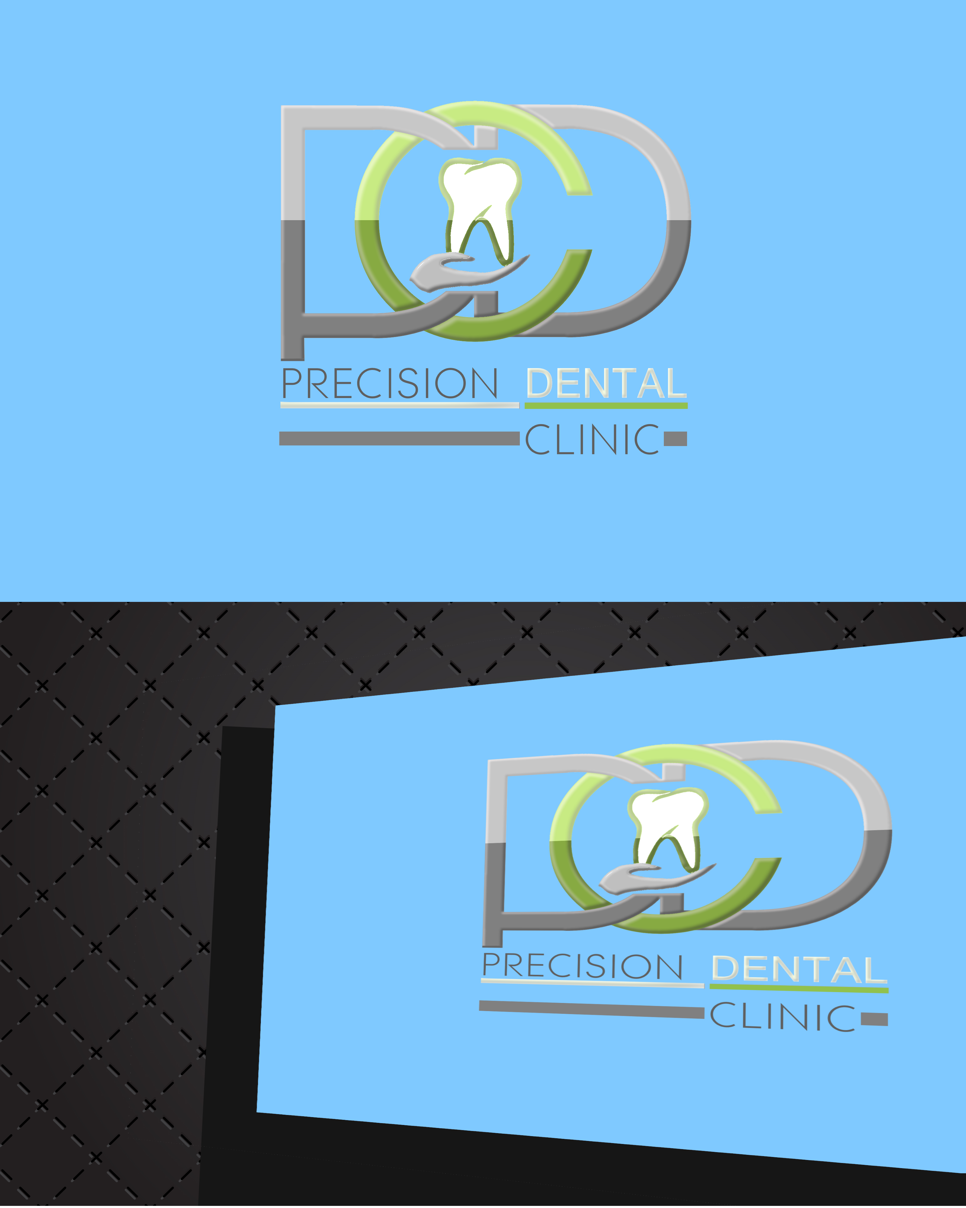 Logo Design by Roberto Bassi - Entry No. 132 in the Logo Design Contest Captivating Logo Design for Precision Dental Clinic.