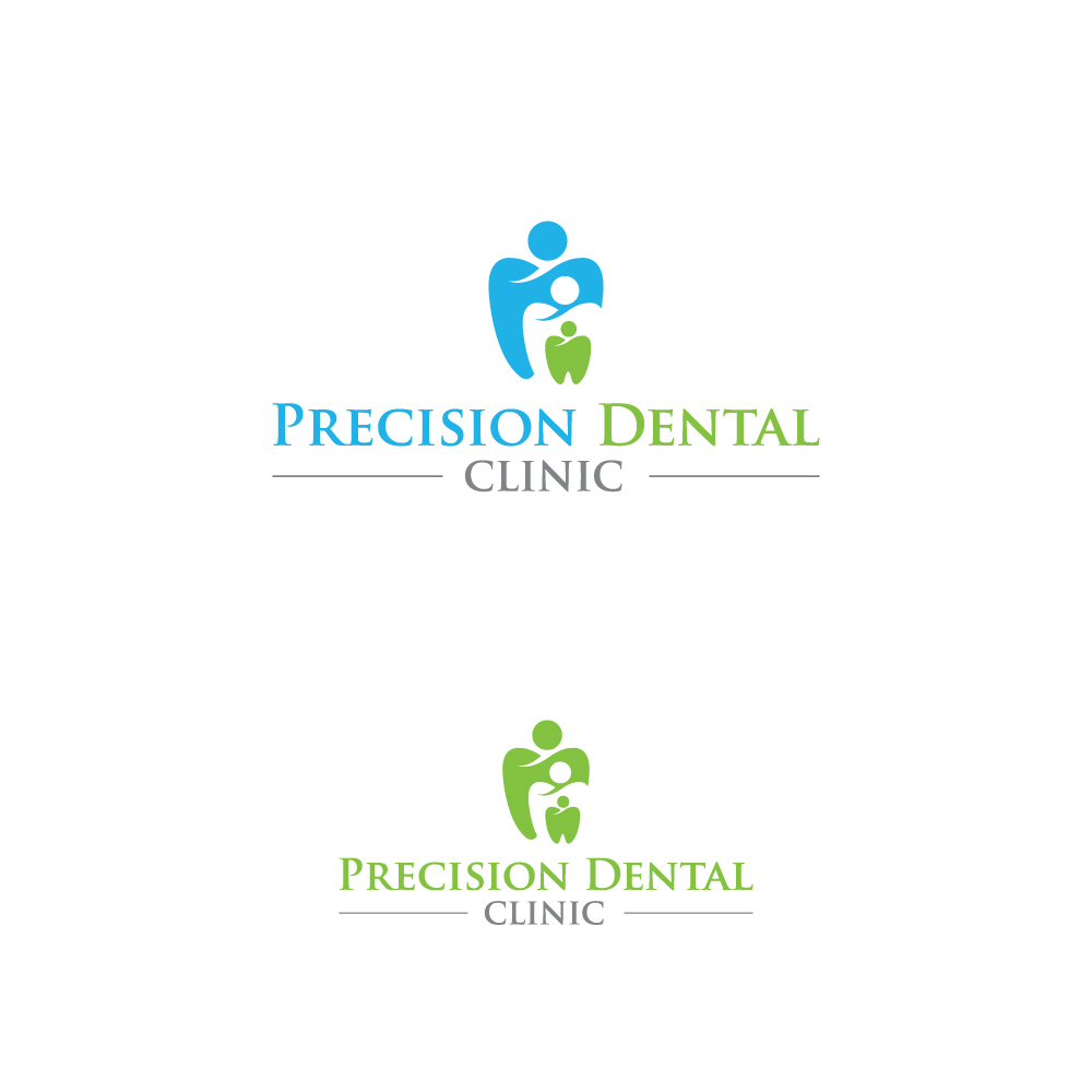 Logo Design by Tauhid Shaikh - Entry No. 152 in the Logo Design Contest Captivating Logo Design for Precision Dental Clinic.