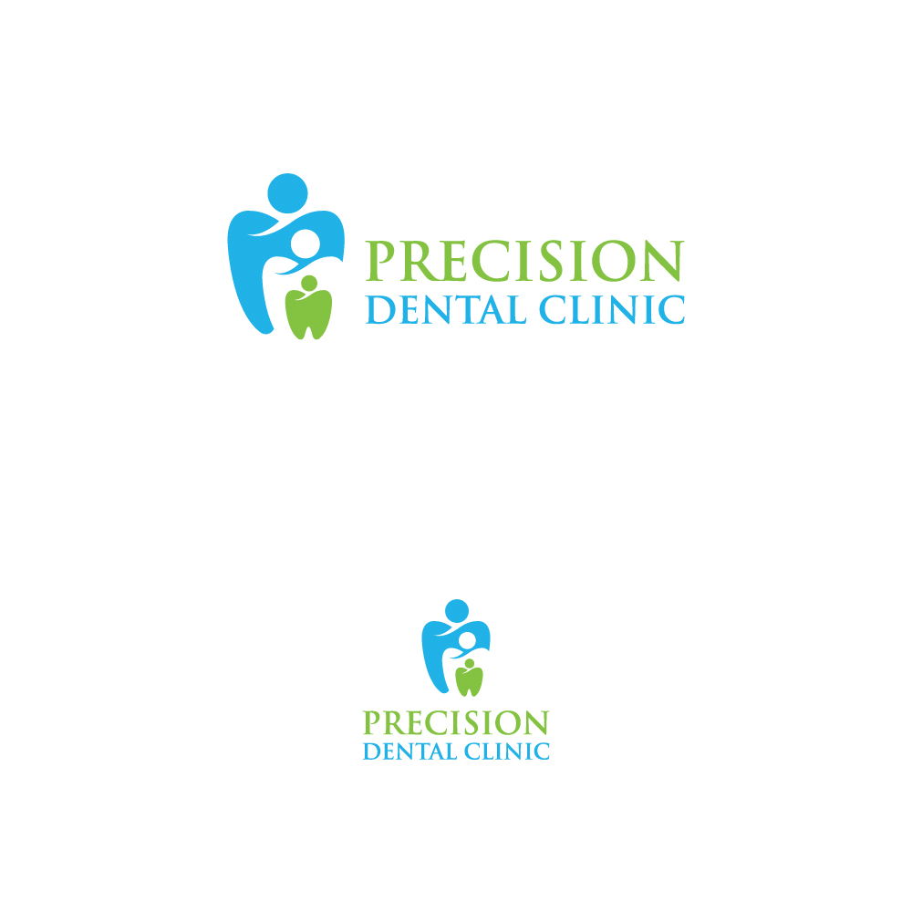 Logo Design by Tauhid Shaikh - Entry No. 153 in the Logo Design Contest Captivating Logo Design for Precision Dental Clinic.