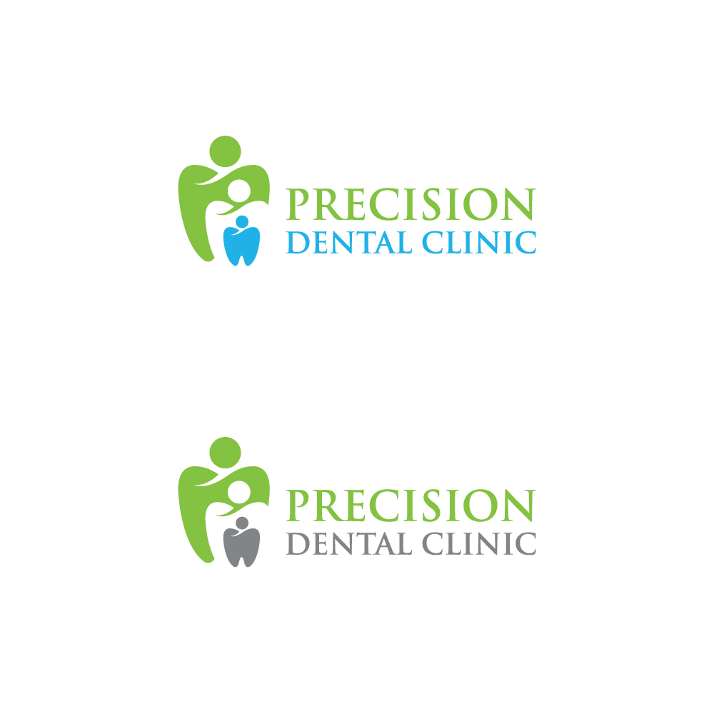 Logo Design by Tauhid Shaikh - Entry No. 154 in the Logo Design Contest Captivating Logo Design for Precision Dental Clinic.