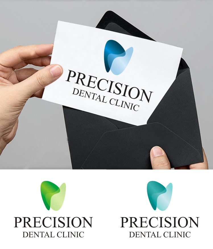 Logo Design by gryphon - Entry No. 160 in the Logo Design Contest Captivating Logo Design for Precision Dental Clinic.