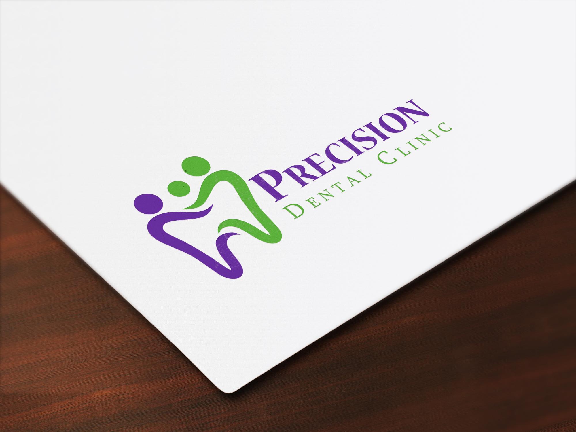 Logo Design by Muazzama Memon - Entry No. 163 in the Logo Design Contest Captivating Logo Design for Precision Dental Clinic.