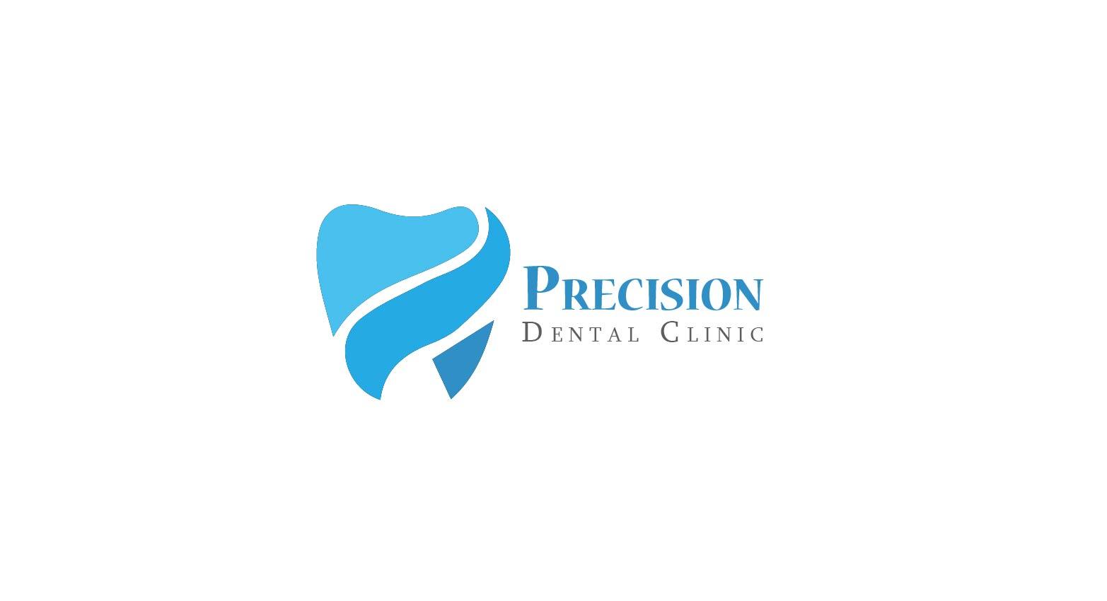 Logo Design by Muazzama Memon - Entry No. 165 in the Logo Design Contest Captivating Logo Design for Precision Dental Clinic.