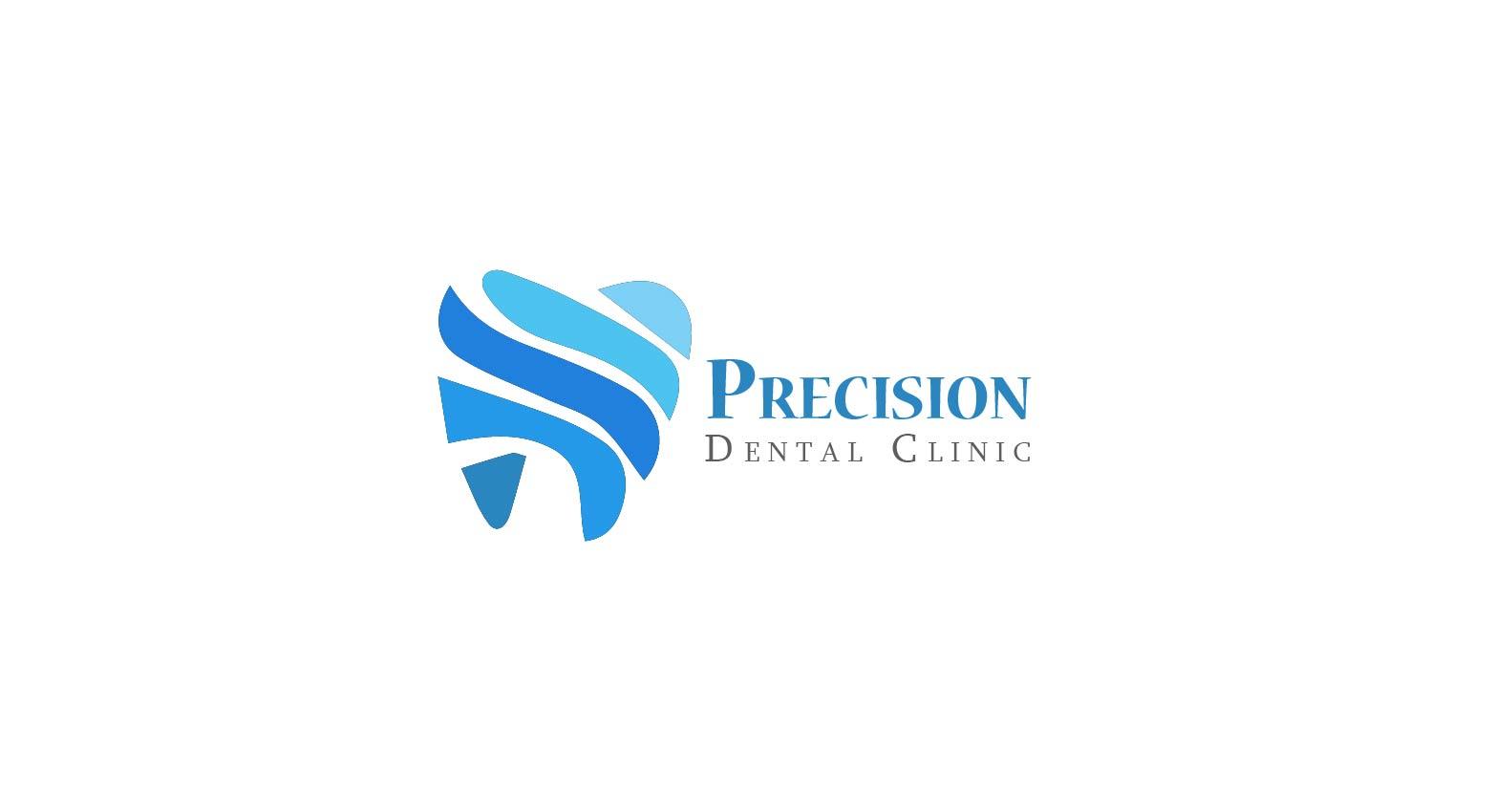 Logo Design by Muazzama Memon - Entry No. 166 in the Logo Design Contest Captivating Logo Design for Precision Dental Clinic.