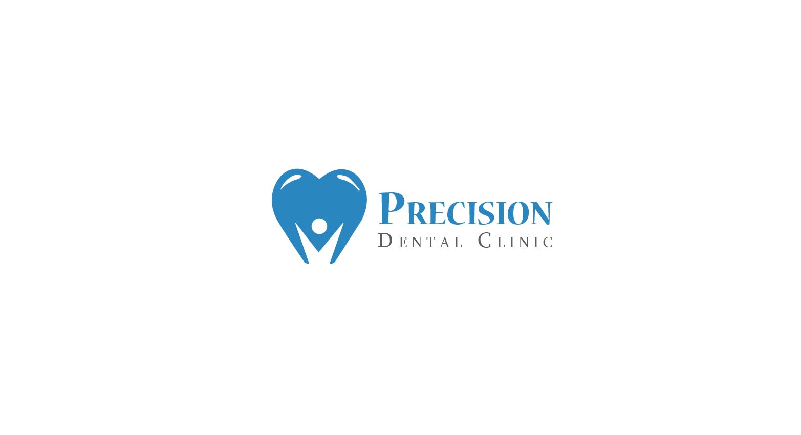 Logo Design by Muazzama Memon - Entry No. 167 in the Logo Design Contest Captivating Logo Design for Precision Dental Clinic.