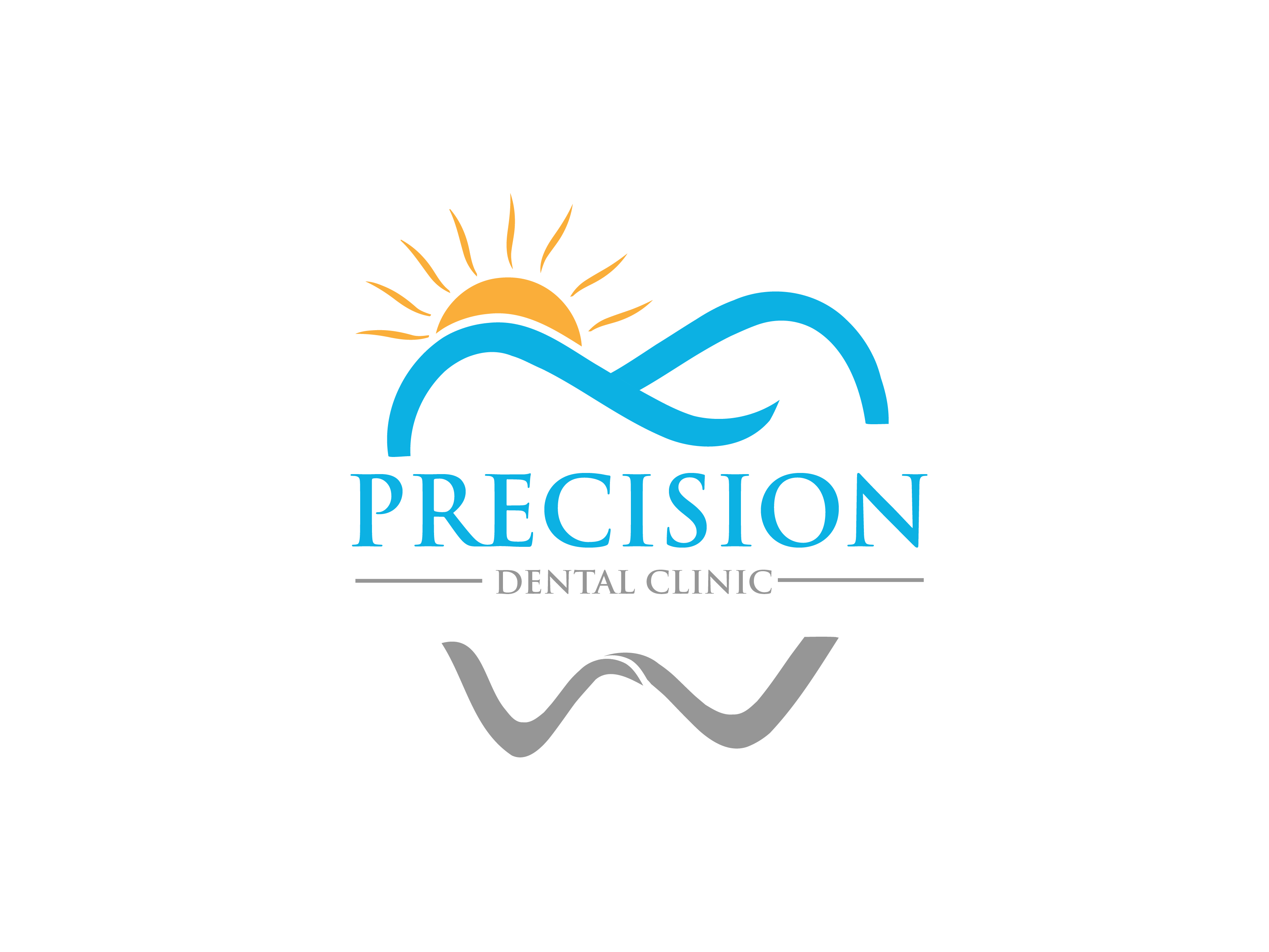 Logo Design by Private User - Entry No. 174 in the Logo Design Contest Captivating Logo Design for Precision Dental Clinic.