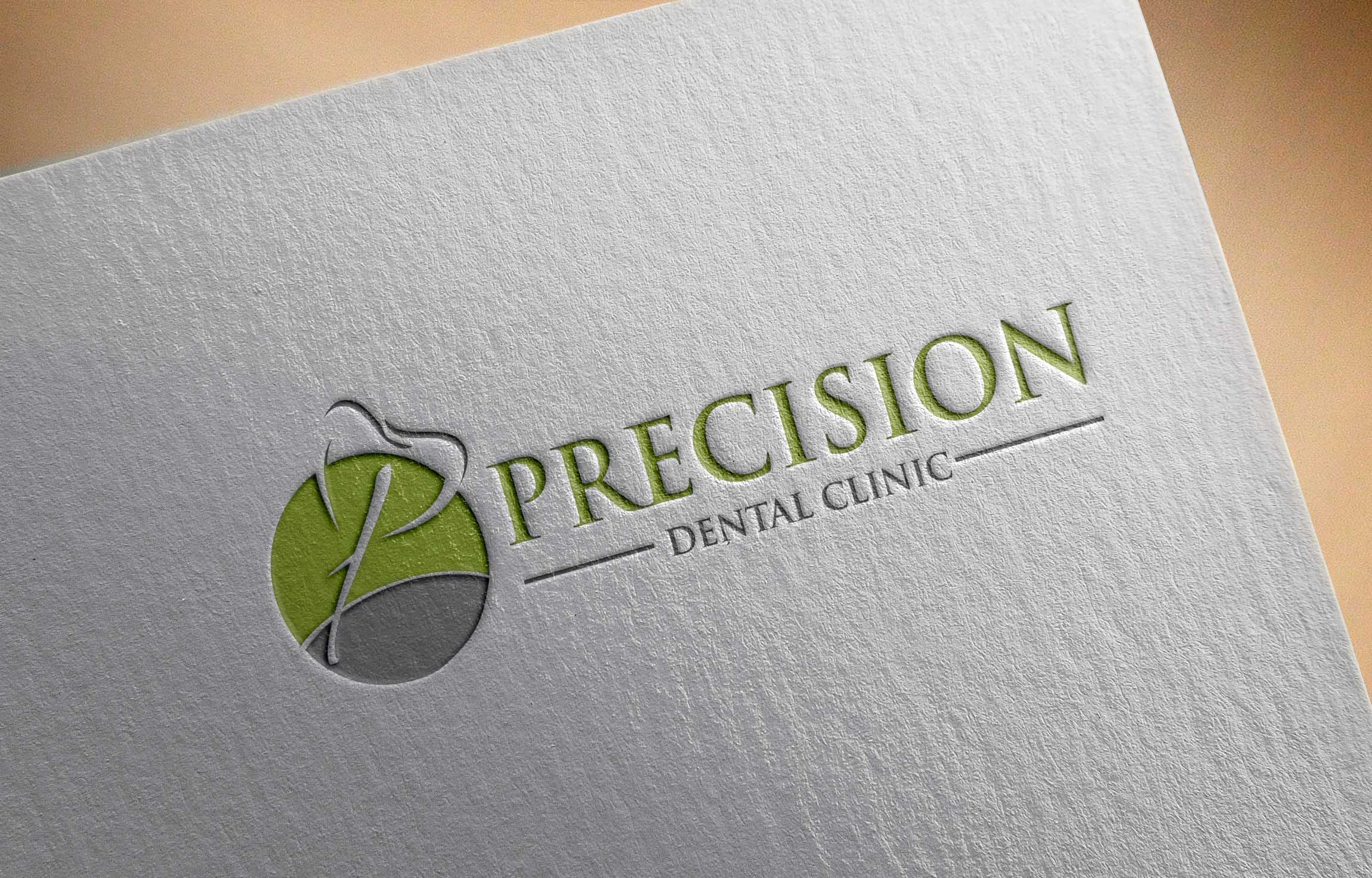 Logo Design by Private User - Entry No. 178 in the Logo Design Contest Captivating Logo Design for Precision Dental Clinic.
