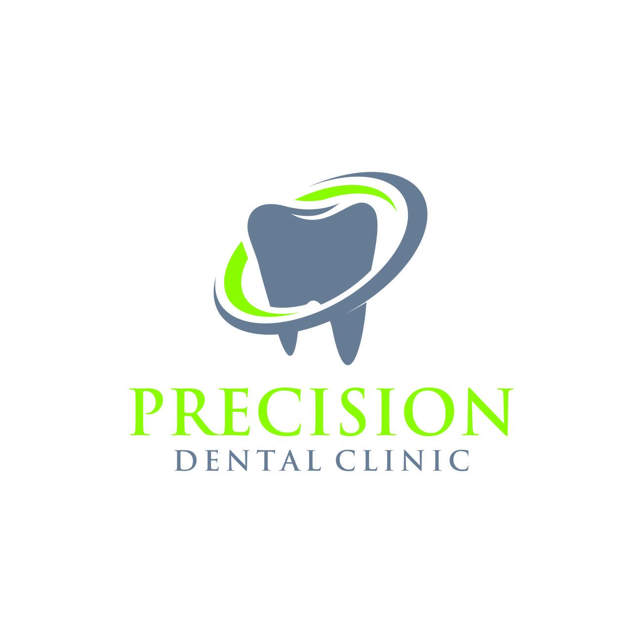Logo Design by RasYa Muhammad Athaya - Entry No. 180 in the Logo Design Contest Captivating Logo Design for Precision Dental Clinic.
