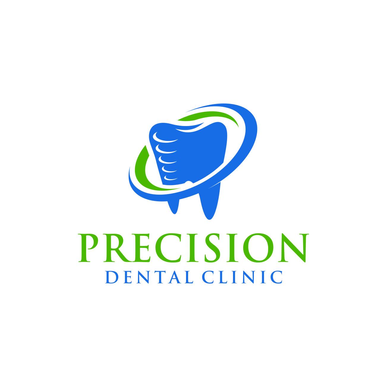 Logo Design by RasYa Muhammad Athaya - Entry No. 182 in the Logo Design Contest Captivating Logo Design for Precision Dental Clinic.