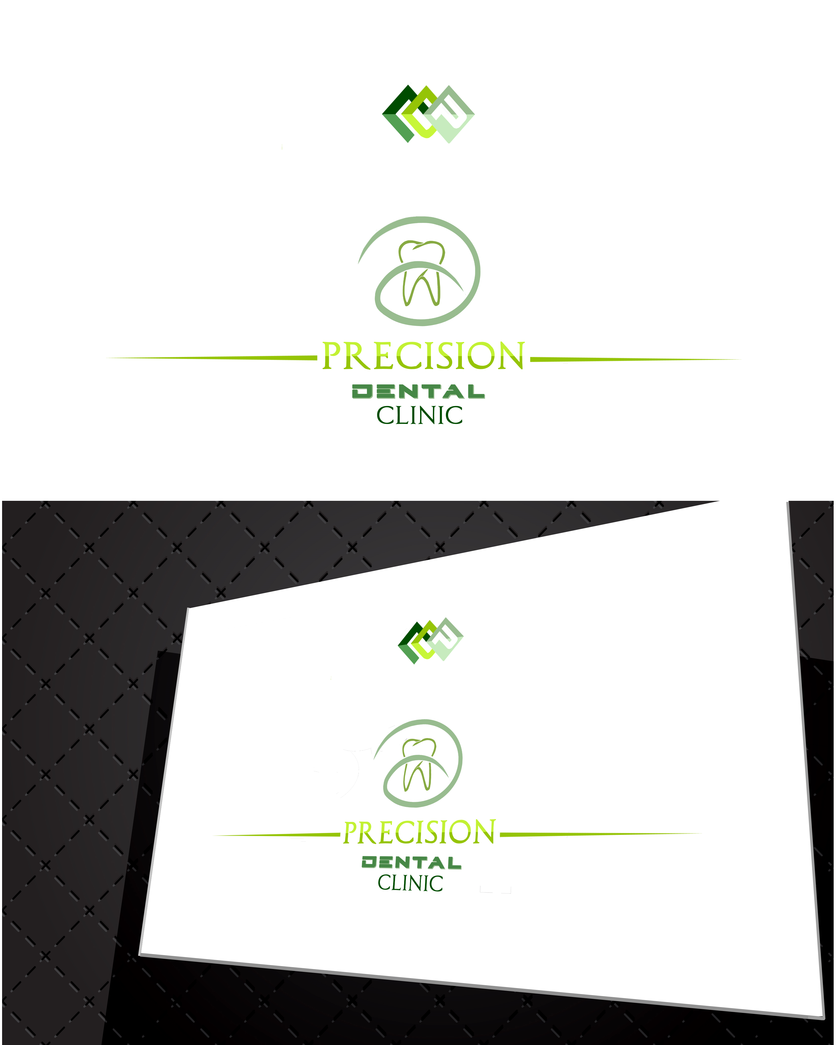 Logo Design by Roberto Bassi - Entry No. 183 in the Logo Design Contest Captivating Logo Design for Precision Dental Clinic.