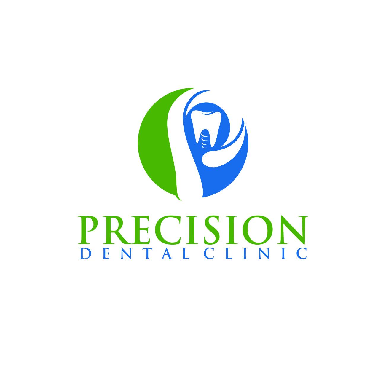 Logo Design by RasYa Muhammad Athaya - Entry No. 187 in the Logo Design Contest Captivating Logo Design for Precision Dental Clinic.