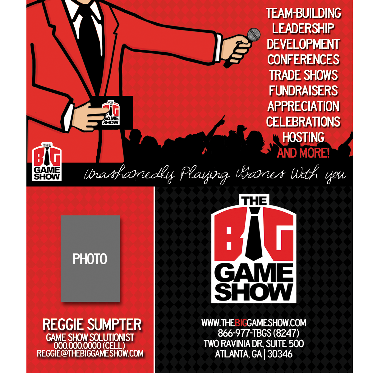 Business Card Design by bambino - Entry No. 29 in the Business Card Design Contest The Big Game Show business cards.