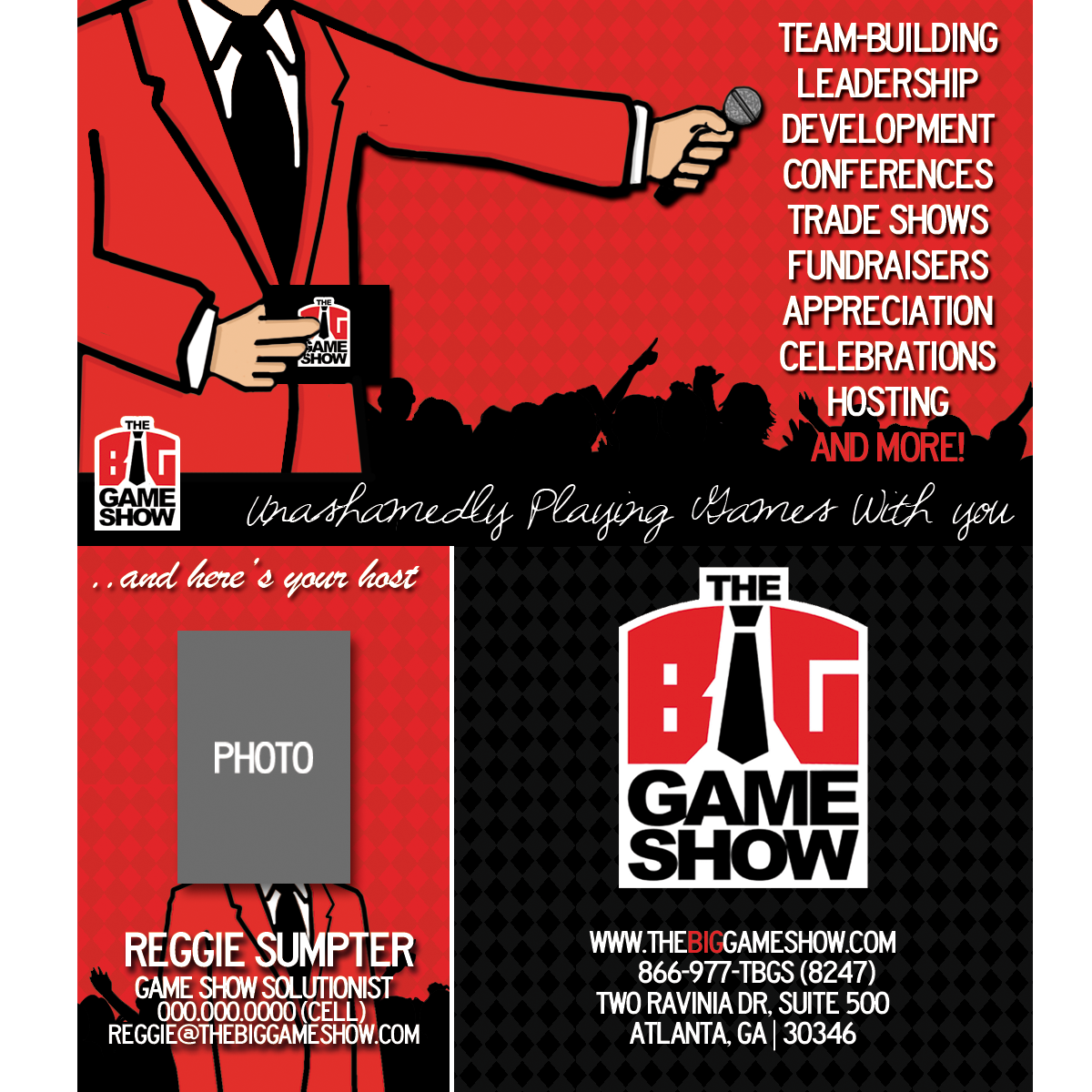 Business Card Design by bambino - Entry No. 30 in the Business Card Design Contest The Big Game Show business cards.