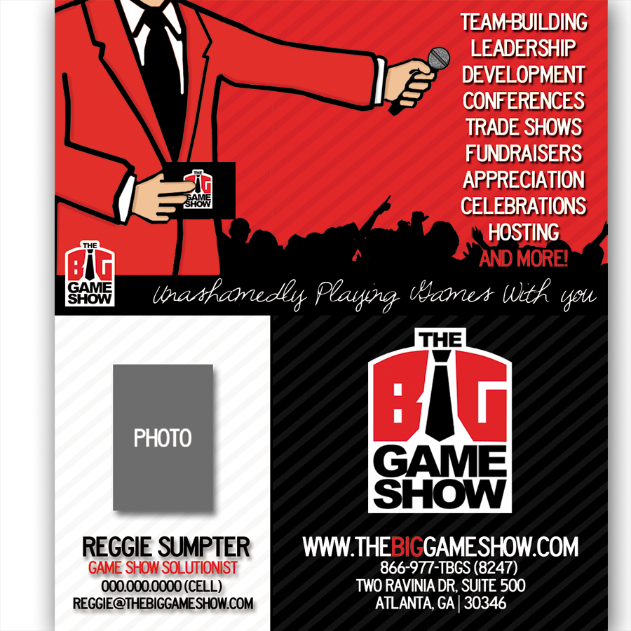 Business Card Design by bambino - Entry No. 31 in the Business Card Design Contest The Big Game Show business cards.
