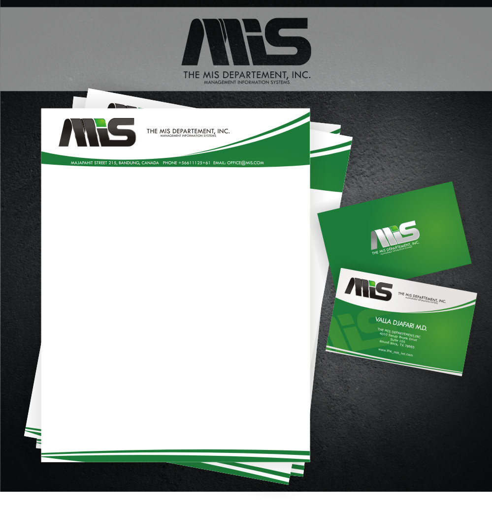 Business Card Design by Private User - Entry No. 3 in the Business Card Design Contest MIS Stationary.