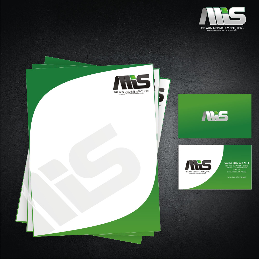 Business Card Design by Private User - Entry No. 4 in the Business Card Design Contest MIS Stationary.