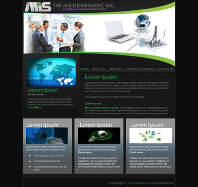 Web Page Design by keekee360 - Entry No. 2 in the Web Page Design Contest MIS (public website) – IT and Management consulting firm.