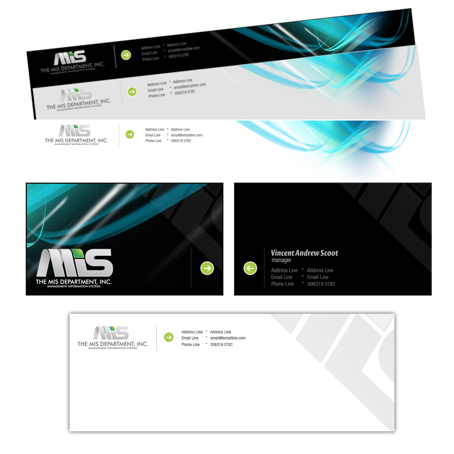 Business Card Design by rockpinoy - Entry No. 23 in the Business Card Design Contest MIS Stationary.