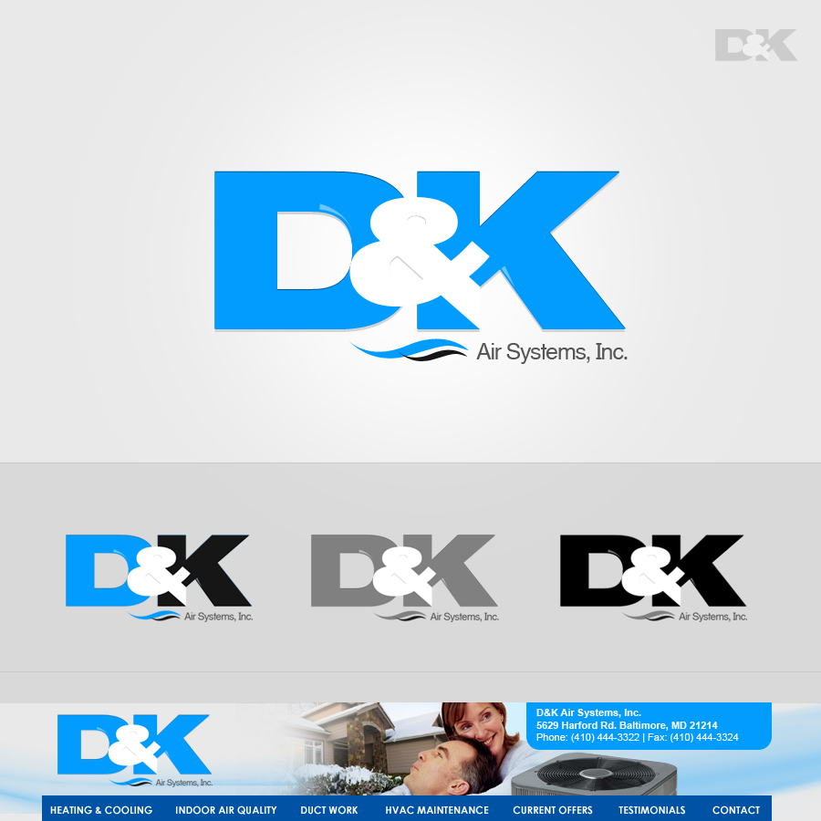 Logo Design by rockpinoy - Entry No. 1 in the Logo Design Contest D&K Air Systems, Inc..
