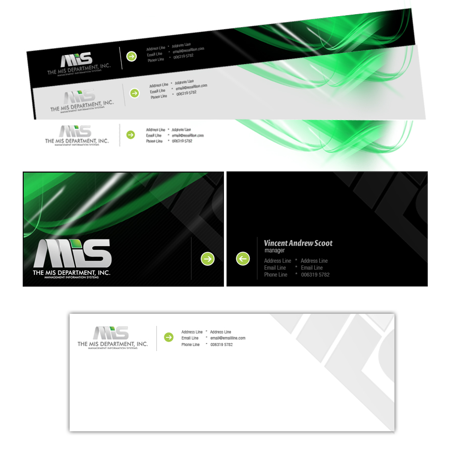 Business Card Design by rockpinoy - Entry No. 28 in the Business Card Design Contest MIS Stationary.