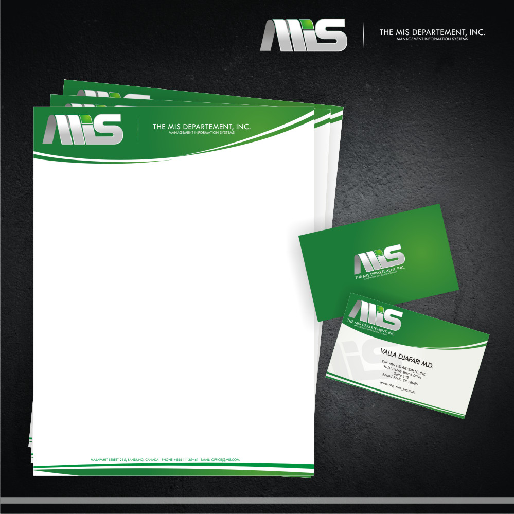 Business Card Design by Private User - Entry No. 29 in the Business Card Design Contest MIS Stationary.