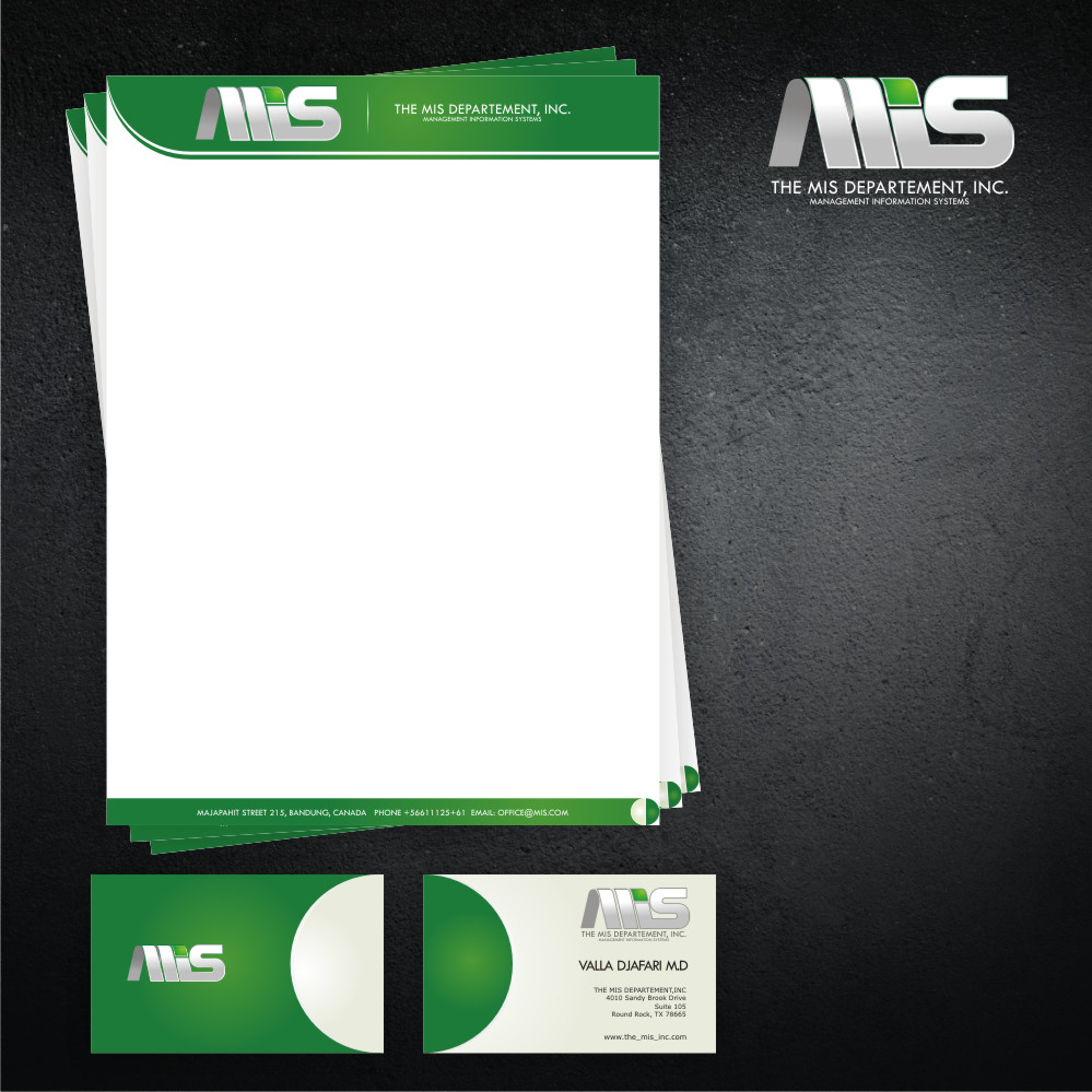 Business Card Design by Private User - Entry No. 31 in the Business Card Design Contest MIS Stationary.
