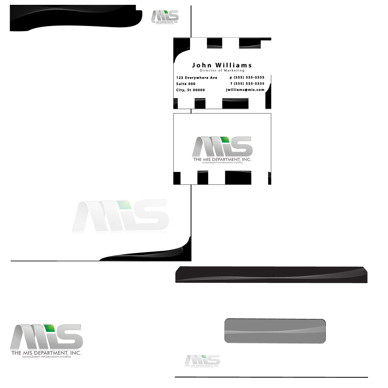 Business Card Design by elitedez - Entry No. 40 in the Business Card Design Contest MIS Stationary.
