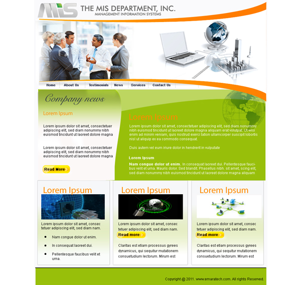 Web Page Design by keekee360 - Entry No. 32 in the Web Page Design Contest MIS (public website) – IT and Management consulting firm.