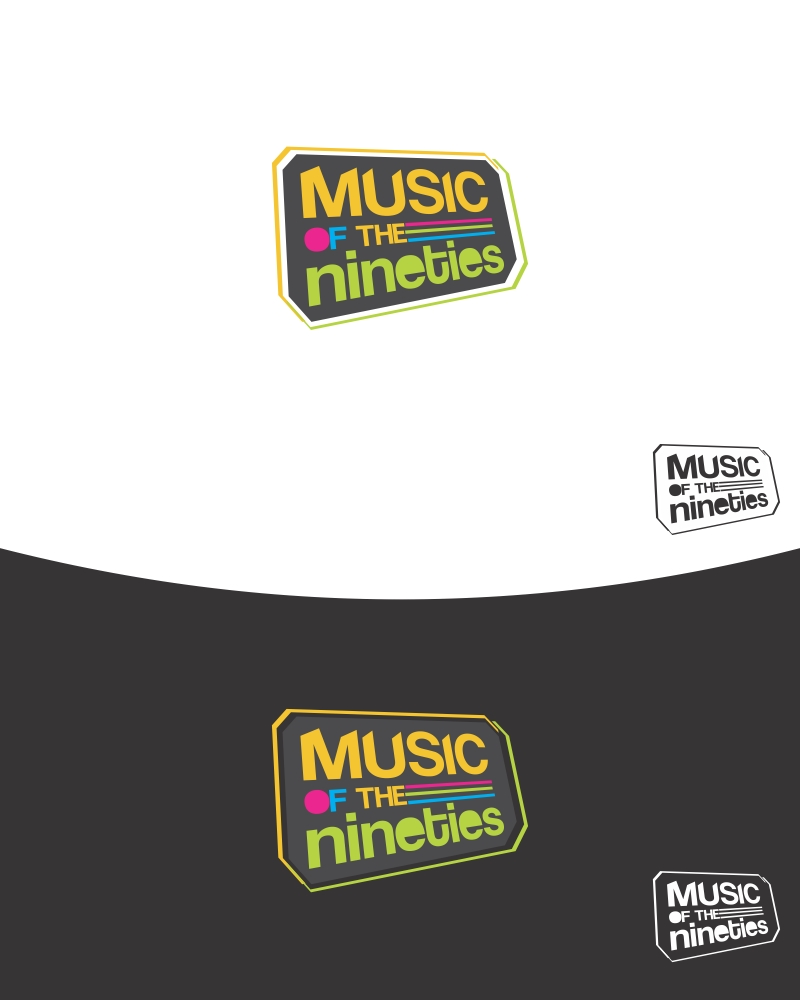 Logo Design by Private User - Entry No. 3 in the Logo Design Contest Music of the Nineties Logo.