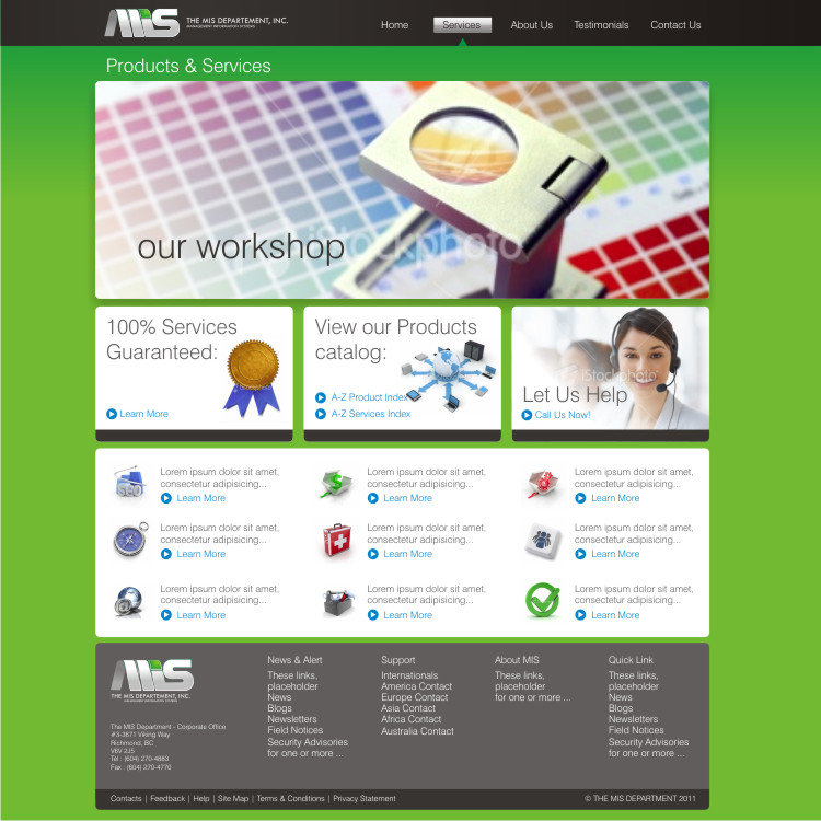 Web Page Design by Private User - Entry No. 56 in the Web Page Design Contest MIS (public website) – IT and Management consulting firm.