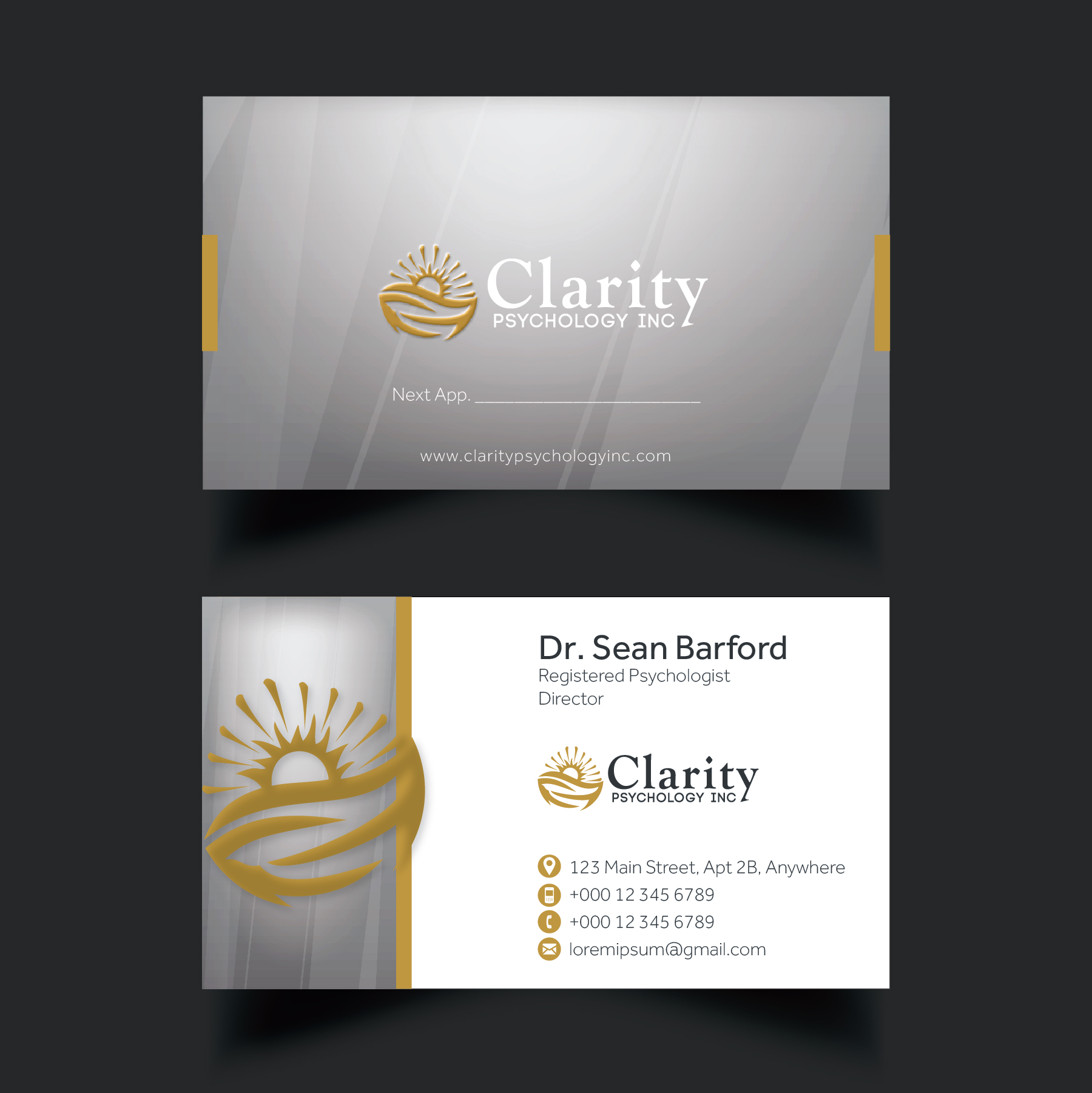 Unique pictures of alternatives to business cards for Psychology business cards