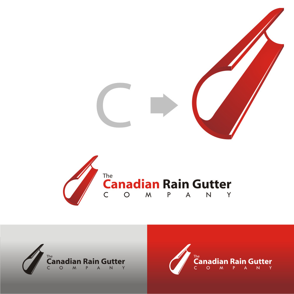 Logo Design by Private User - Entry No. 4 in the Logo Design Contest The Canadian Rain Gutter Company.