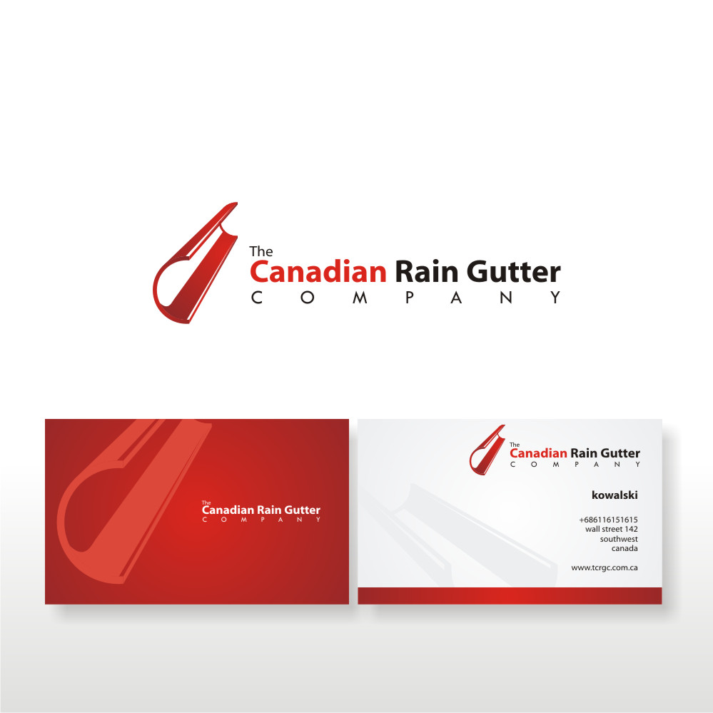 Logo Design by Private User - Entry No. 6 in the Logo Design Contest The Canadian Rain Gutter Company.
