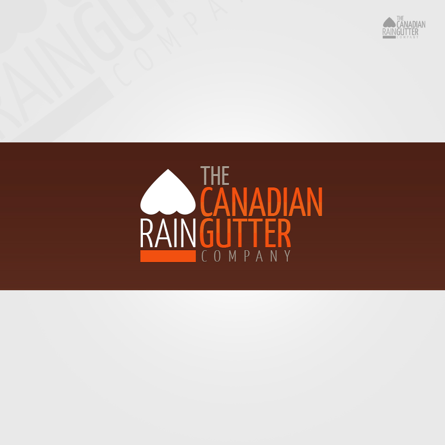 Logo Design by rockpinoy - Entry No. 9 in the Logo Design Contest The Canadian Rain Gutter Company.
