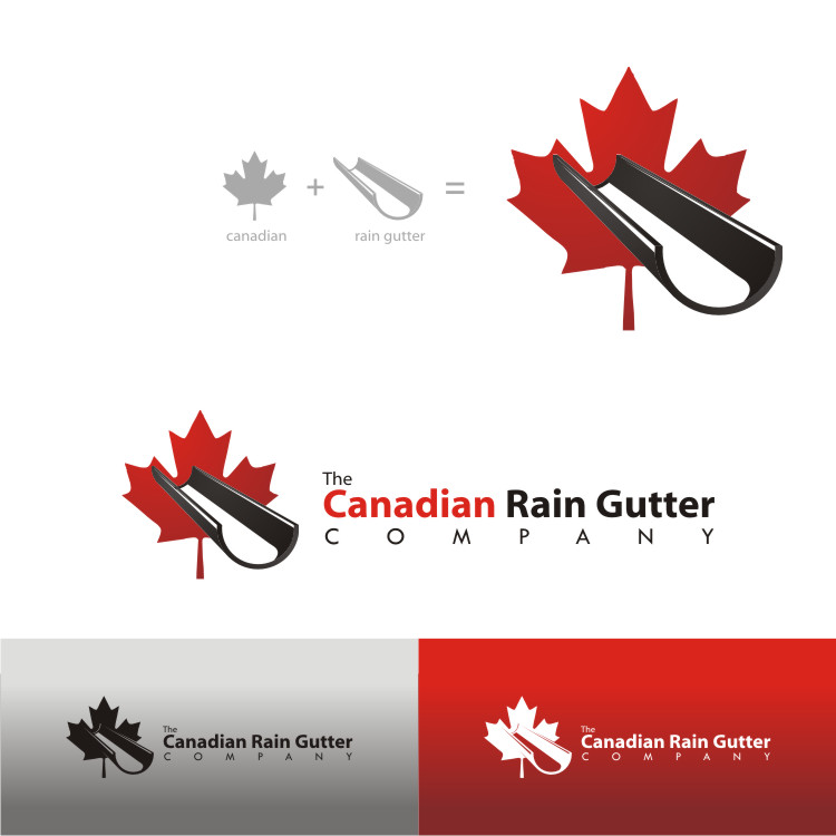 Logo Design by Private User - Entry No. 16 in the Logo Design Contest The Canadian Rain Gutter Company.