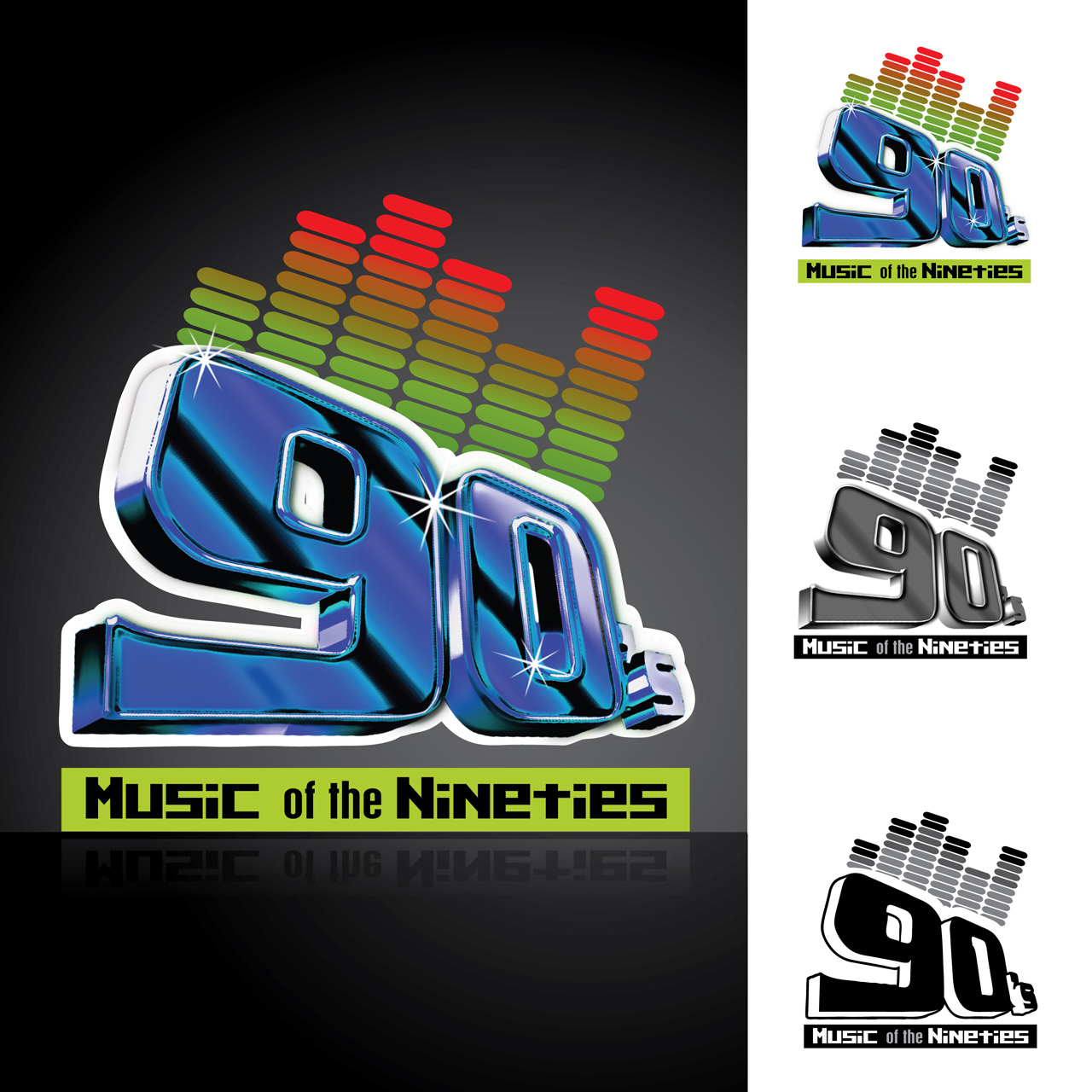 Logo Design by Alexander Ioannidis - Entry No. 8 in the Logo Design Contest Music of the Nineties Logo.