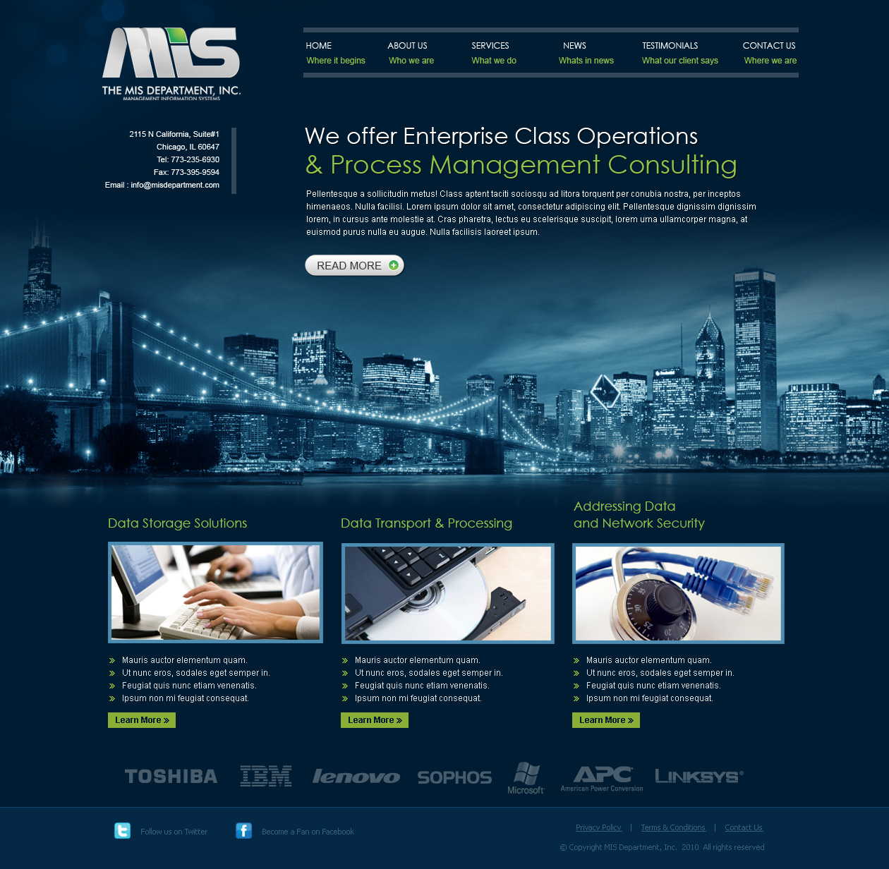 Mis public website it and management consulting firm for Consulting website