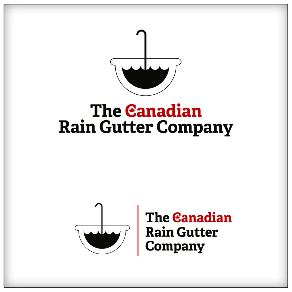 Logo Design by Adrian Chambre - Entry No. 27 in the Logo Design Contest The Canadian Rain Gutter Company.