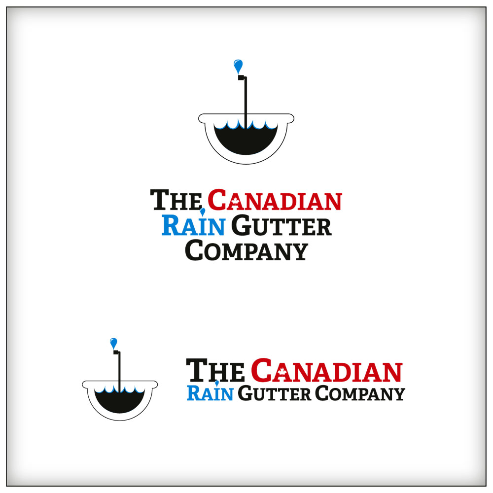 Logo Design by Adrian Chambre - Entry No. 28 in the Logo Design Contest The Canadian Rain Gutter Company.