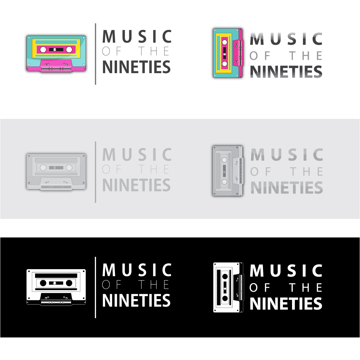 Logo Design by ex - Entry No. 14 in the Logo Design Contest Music of the Nineties Logo.