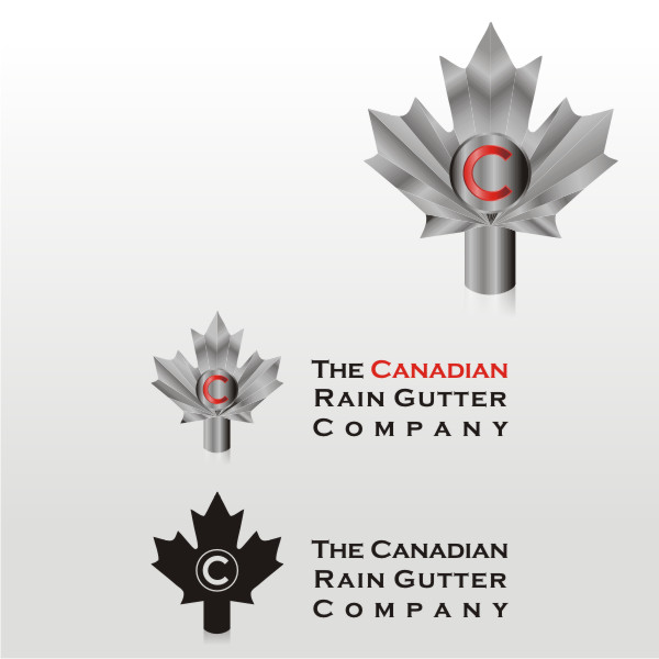 Logo Design by fr - Entry No. 30 in the Logo Design Contest The Canadian Rain Gutter Company.